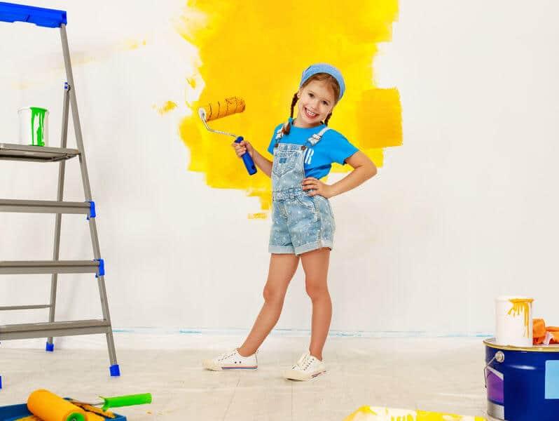 peindre une chambre en 2 couleurs