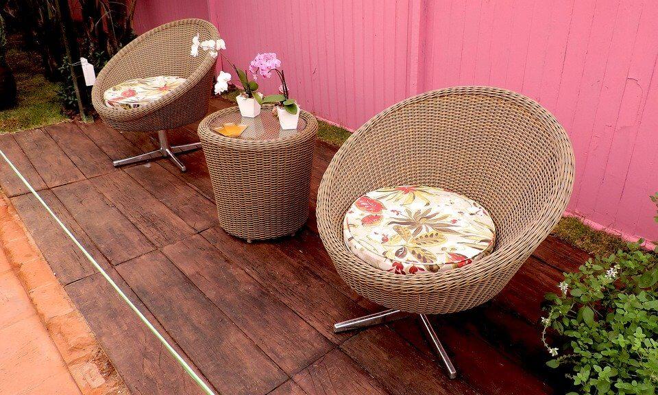 meubles esthétiques et confortables pour l'extérieur