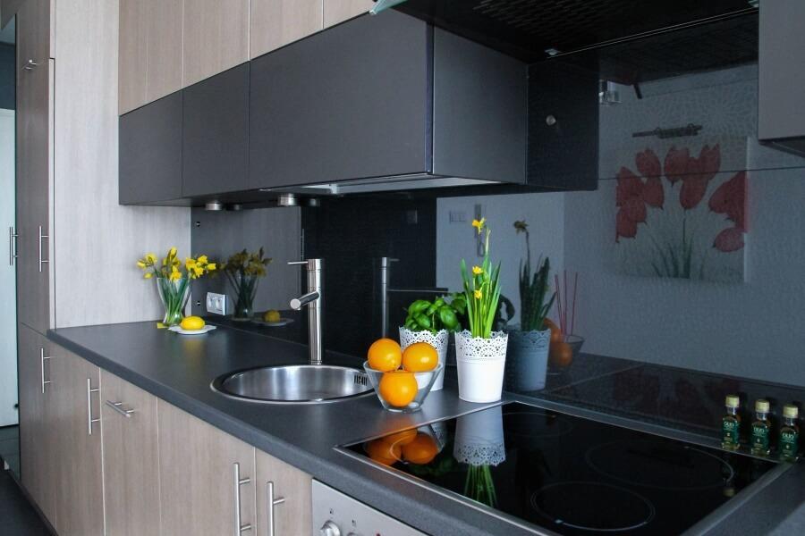fleurs dans la cuisine