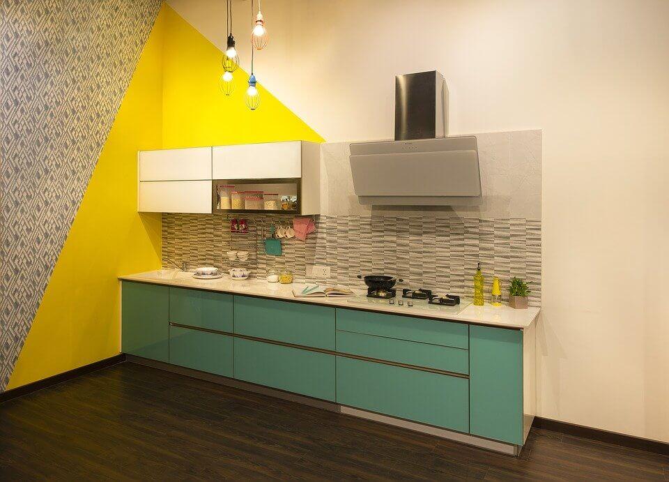 cuisine avec du jaune