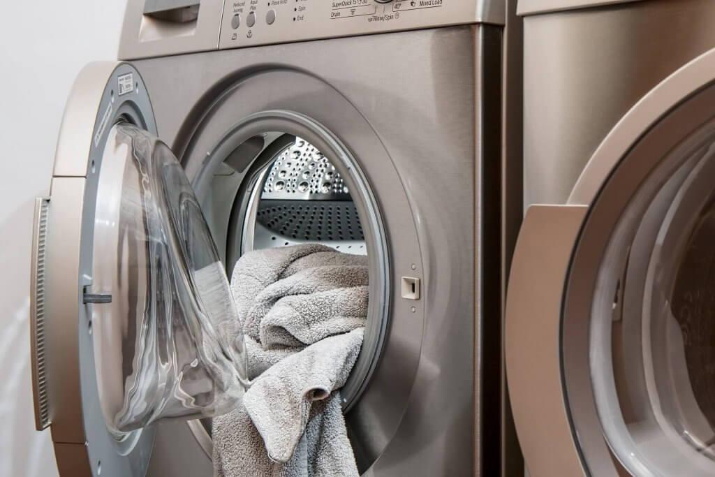 machine à laver ouverte