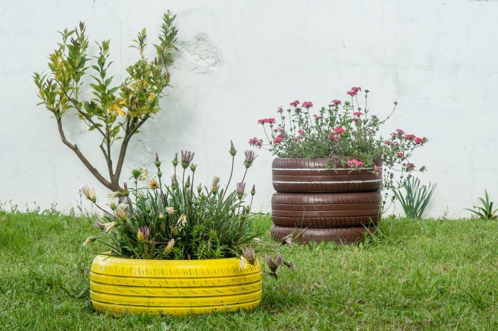 déco de jardin récup