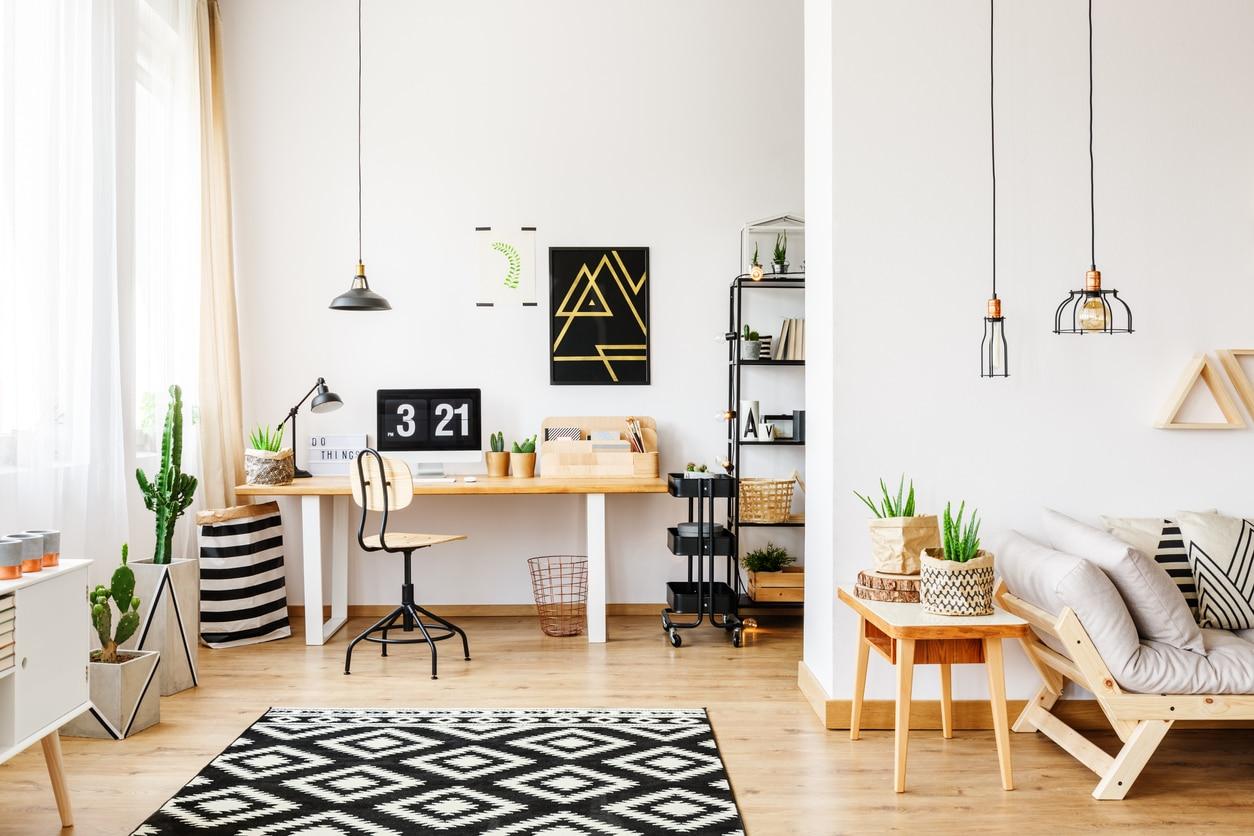 bois et tapis géométriques