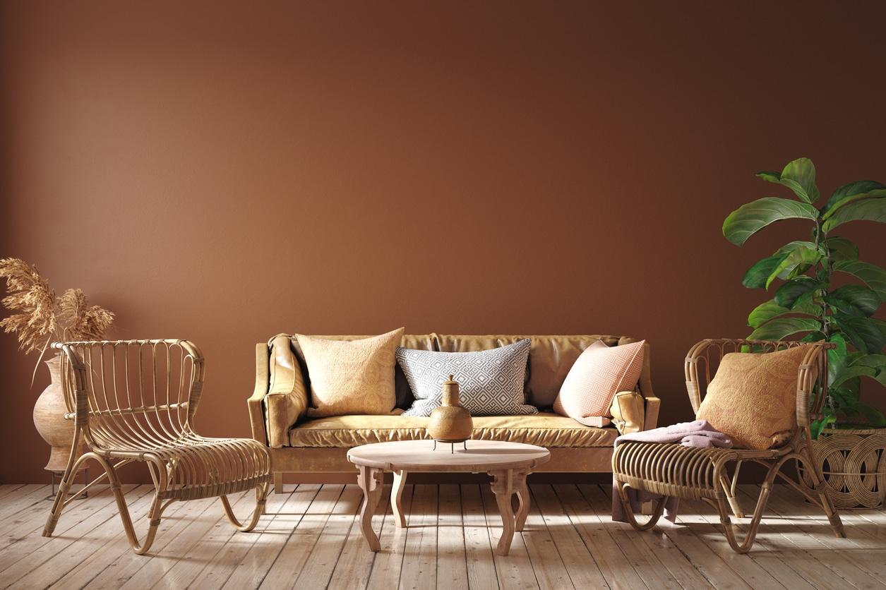 salon moderne terracotta