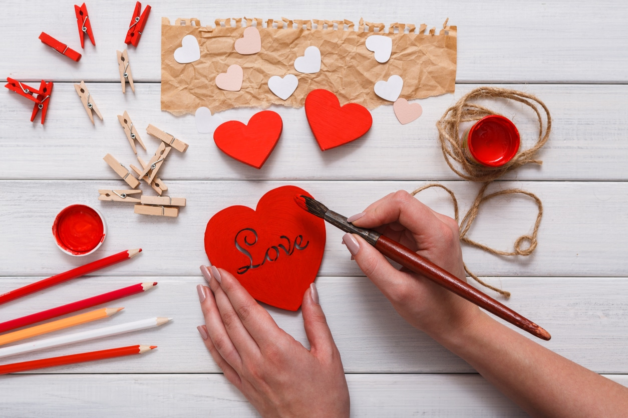 bricolage de saint-valentin