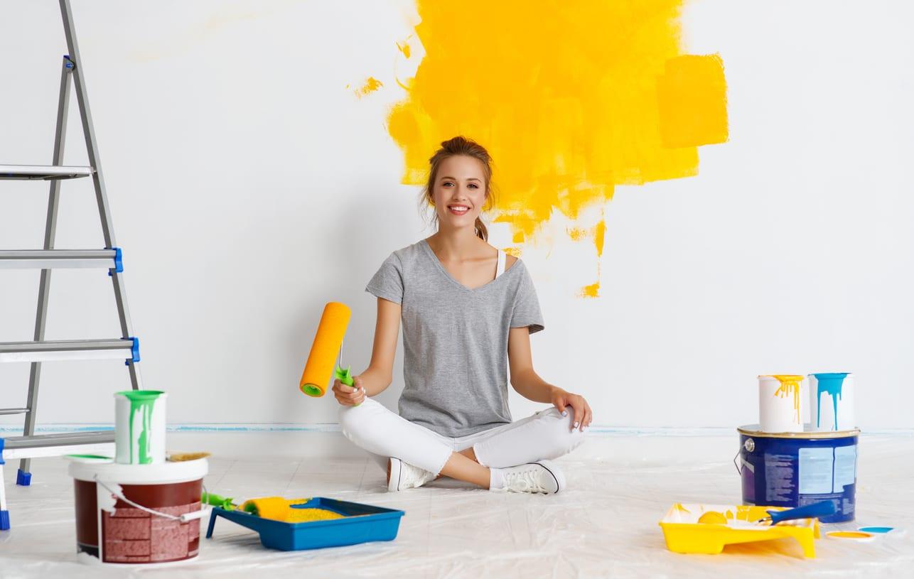 peinture jaune décoration