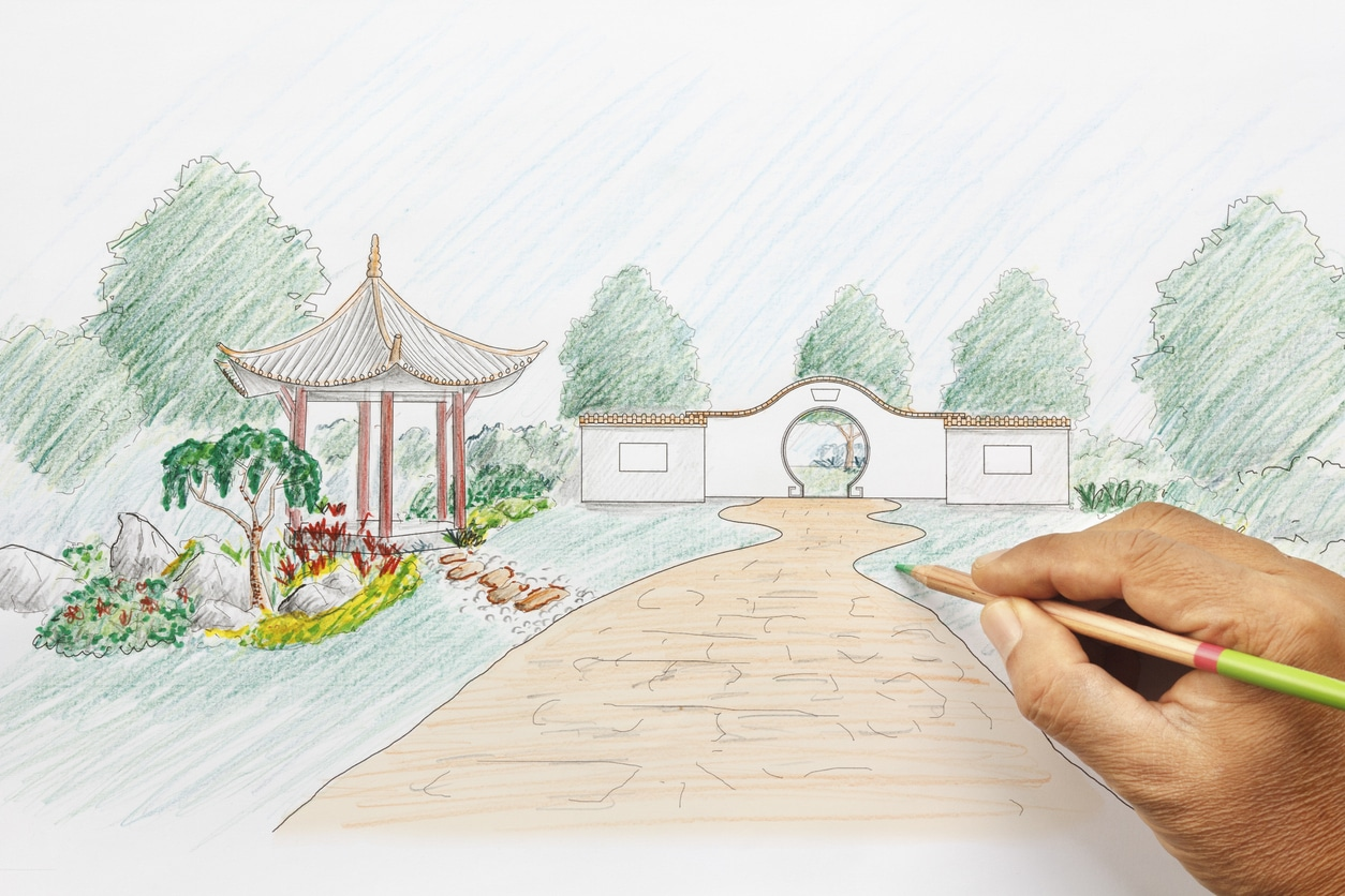plan jardin japonais