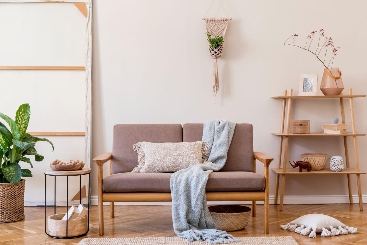 style japandi dans un salon moderne