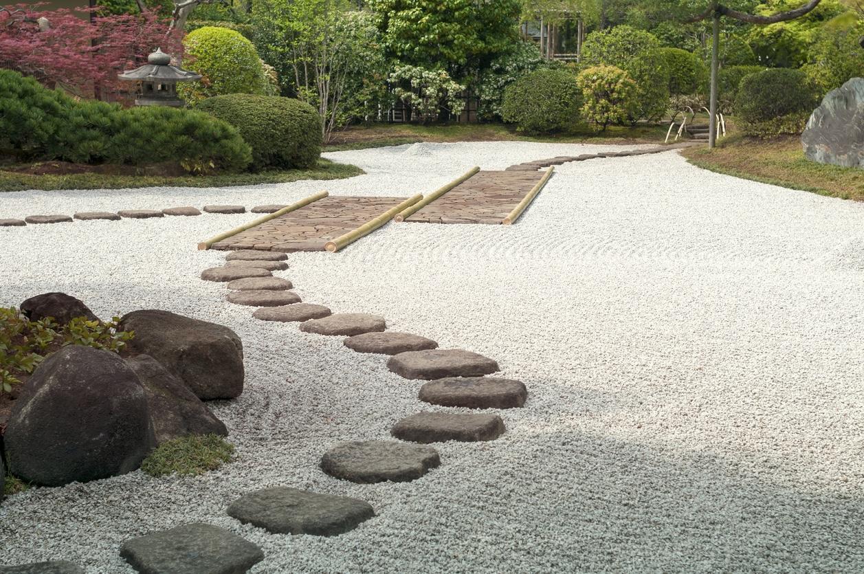 jardin zen - allée de jardin