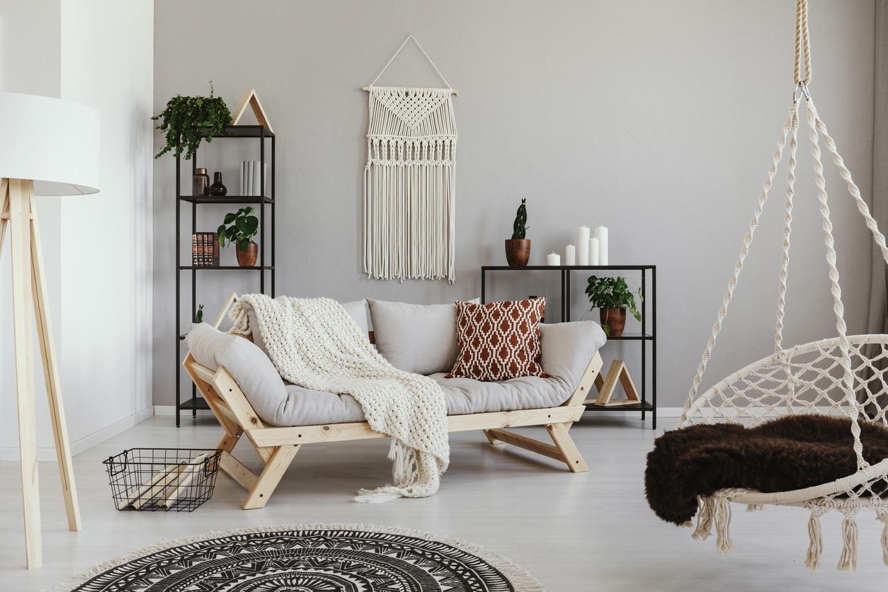 canapé déco style scandinave