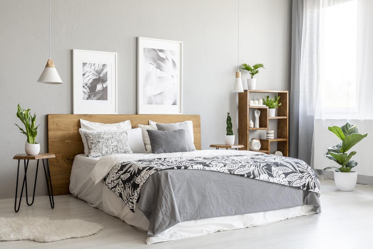 chambre à coucher scandinave