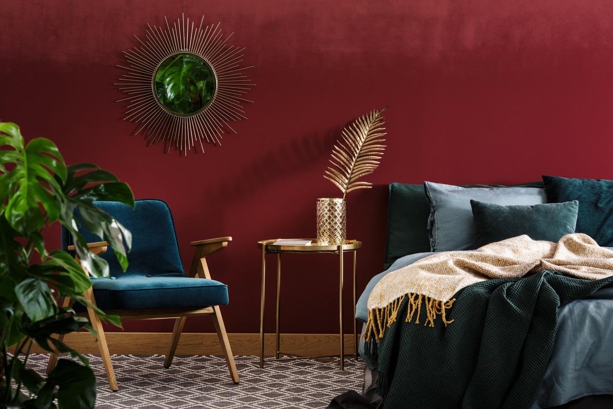 décoration glamour - chambre moderne