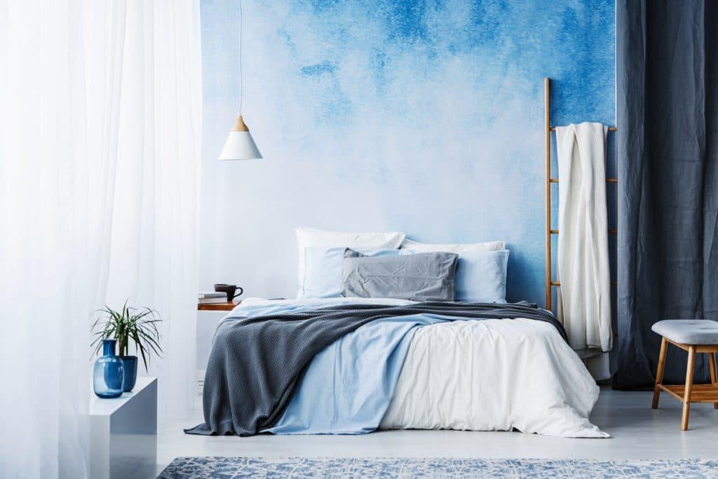 Décoration scandinave avec du bleu