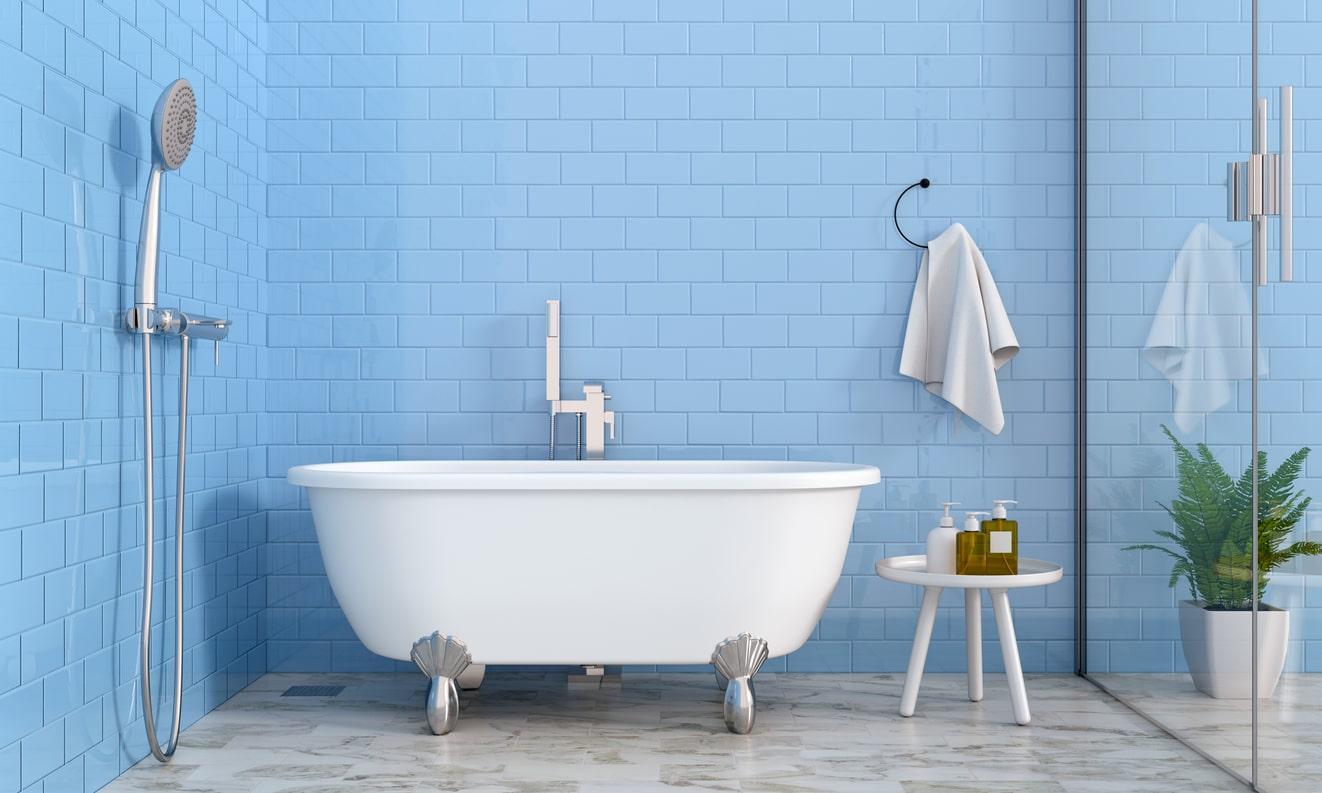 déco avec du bleu - salle de bain