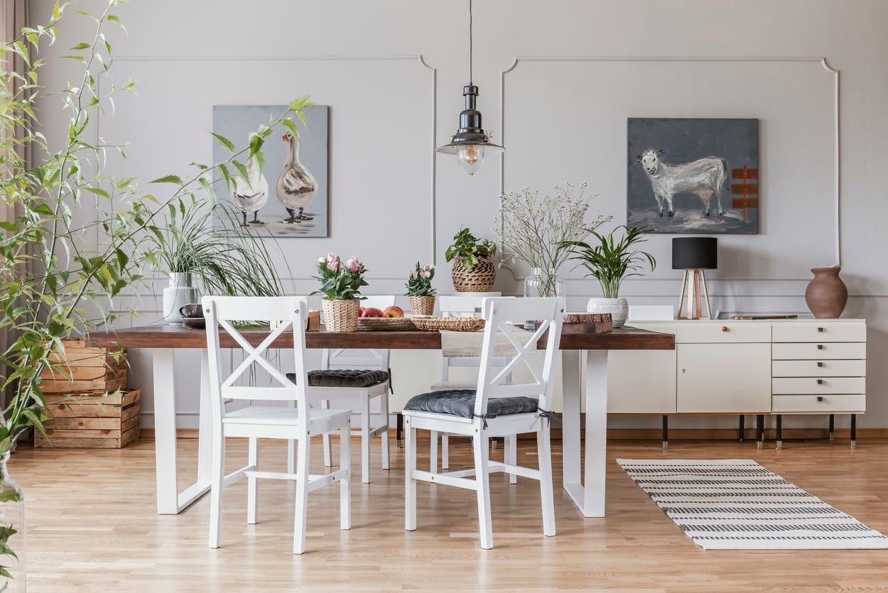 décoration moderne - salle à manger rustique