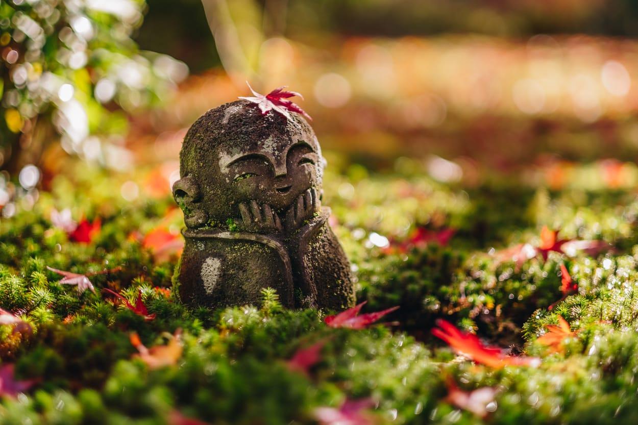bouddah heureux - jardin zen