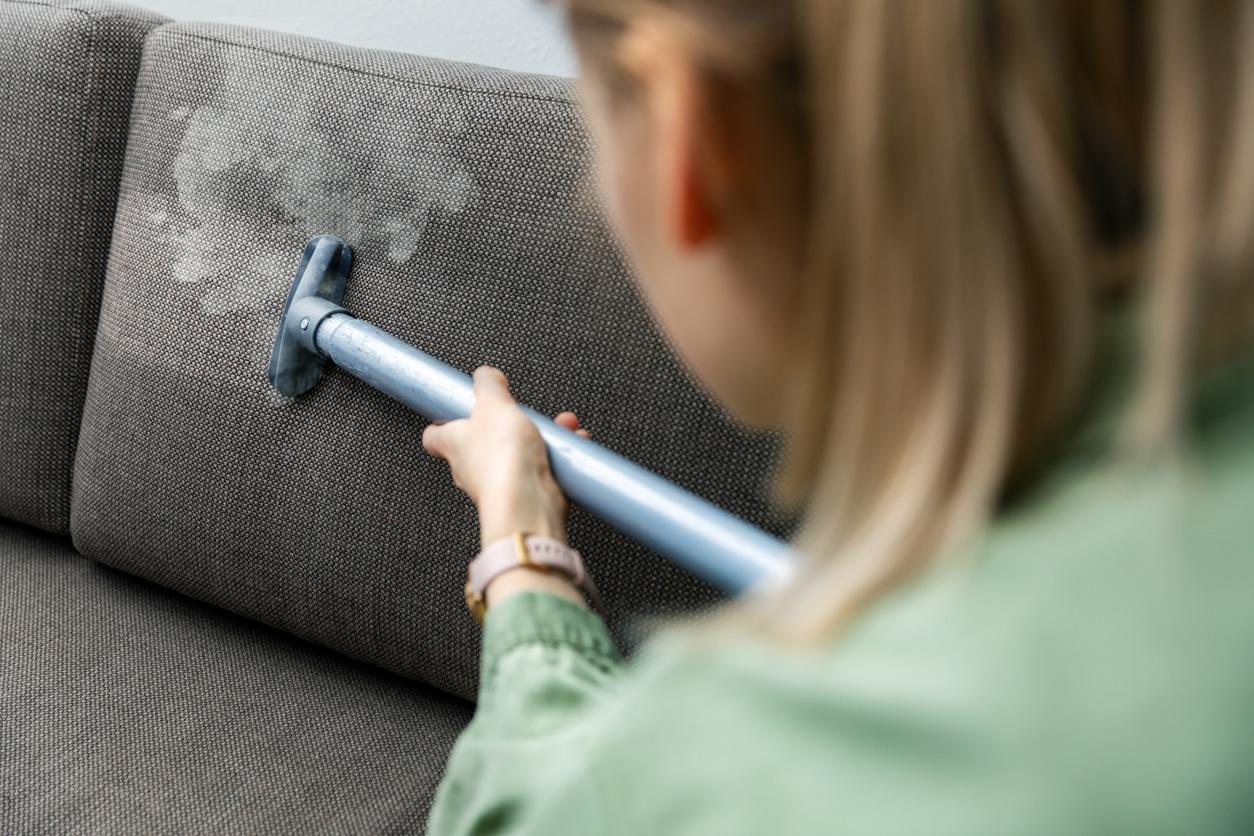 canapé en tissu - Nettoyeur vapeur