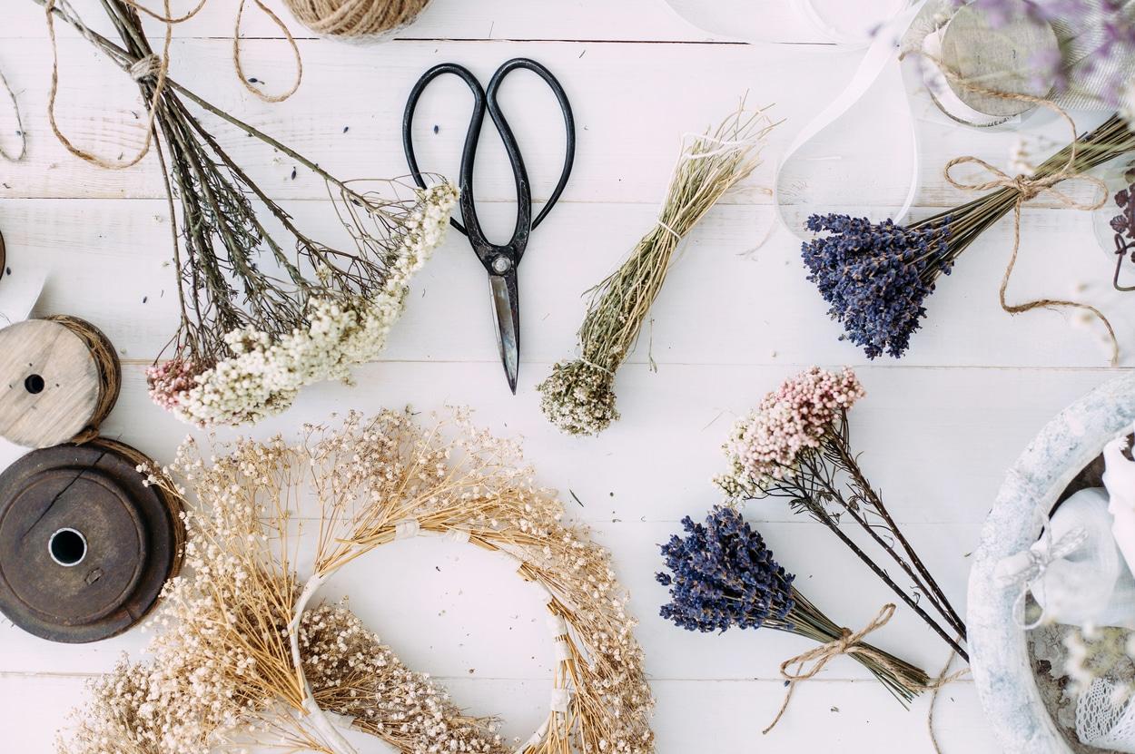 Faire sécher des fleurs - déco