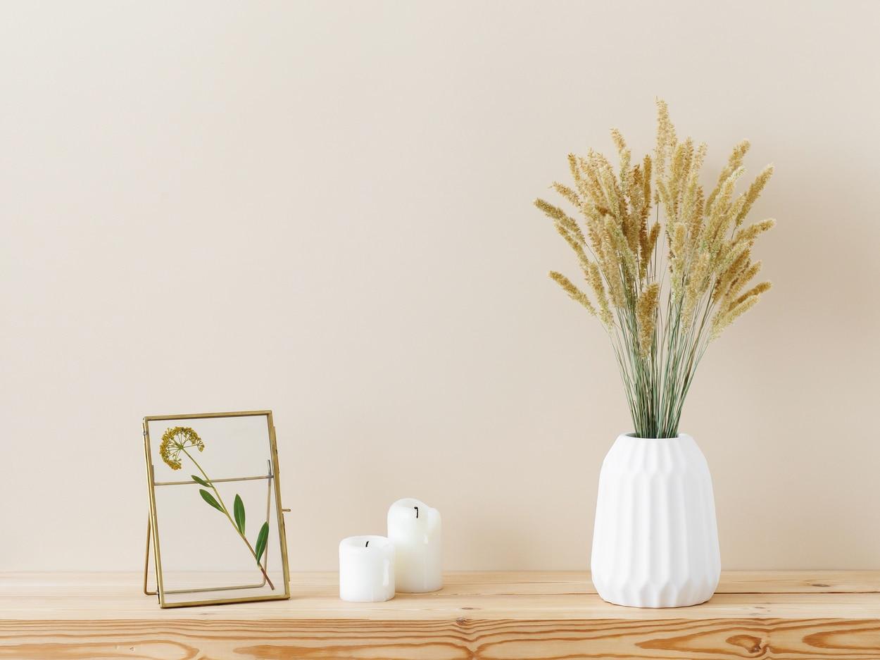 Décoration d'intérieur - fleurs séchées